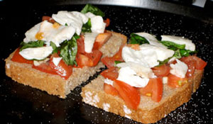 Bruschetta with Italian Mozarella cheese